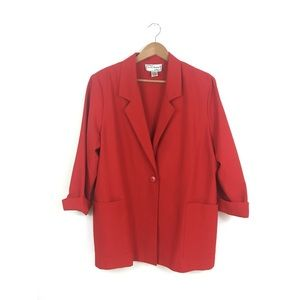 Vintage '90's Oversized Red Blazer size Large